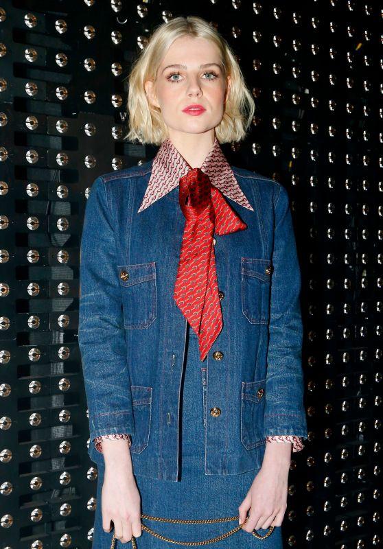 Lucy Boynton – Gucci Show in Milan, Italy 09/20/2017
