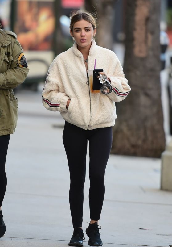 Lucy Hale in Tights - Out in LA 02/17/2019