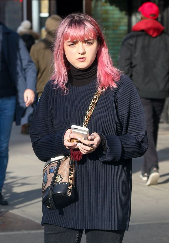 Maisie Williams and Reuben Selby - Out in New York City 02/11/2019