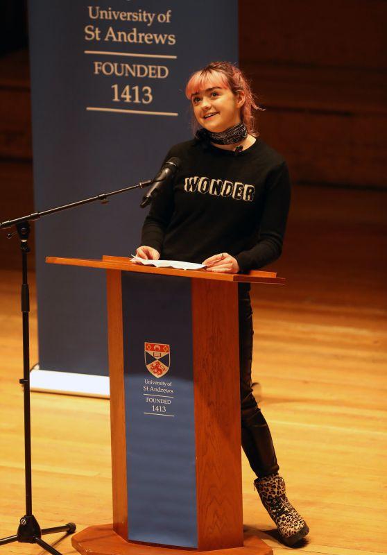 Maisie Williams - Visiting St Andrews University in Scotland 02/05/2019
