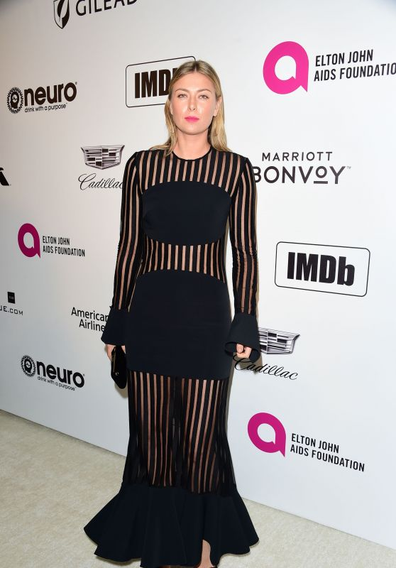 Maria Sharapova – 2019 Elton John's Oscars Viewing Party