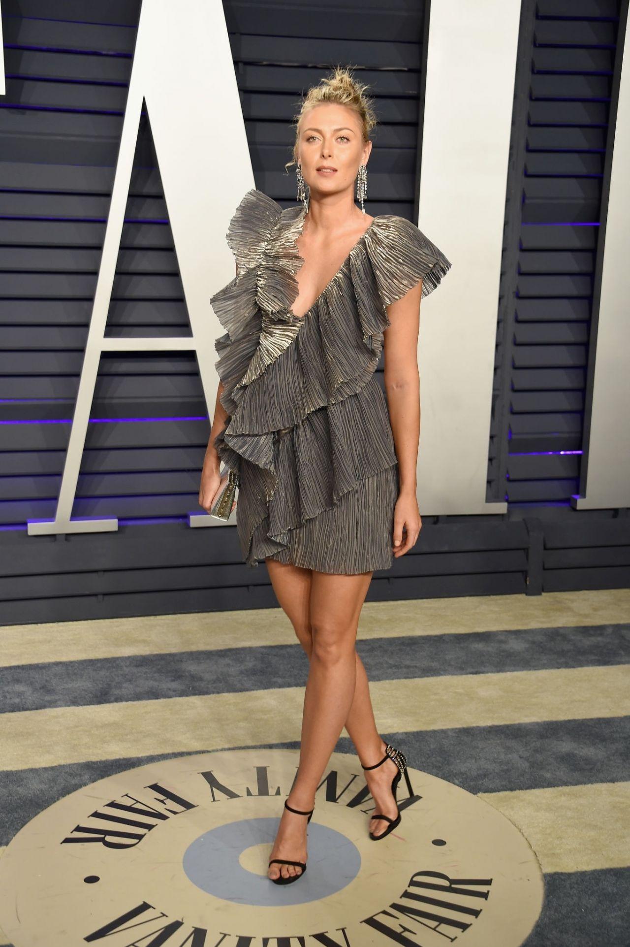 Maria Sharapova 2019 Vanity Fair Oscar Party