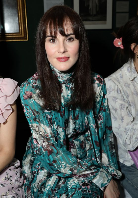 Michelle Dockery - Erdem Fashion Show in London 02/18/2019