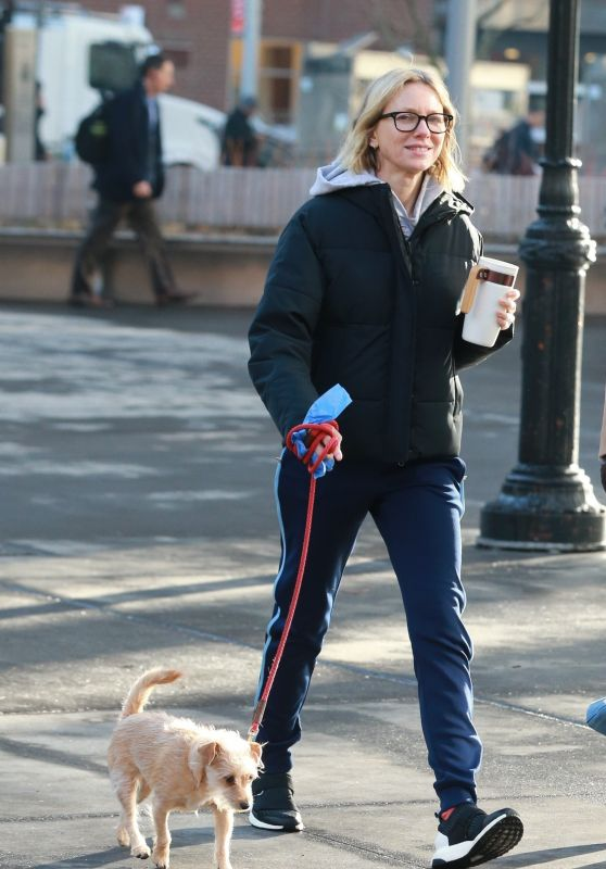 Naomi Watts - Out For a Stroll in Tribeca, NYC 02/04/2019
