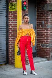 Nathalie Kelley is Stylish - Outside Sies Marjan, NYFW 02/10/2019