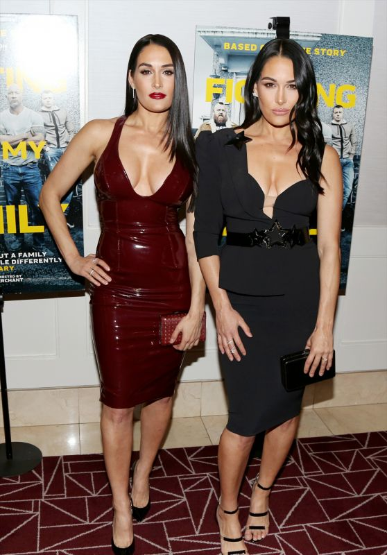 "Nikki Bella and Brie Bella - ""Fighting With My Family"" LA Tastemaker Screening"
