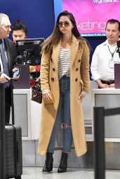 Olivia Munn in Travel Outfit - LAX Airport in Los Angeles 02/26/2019