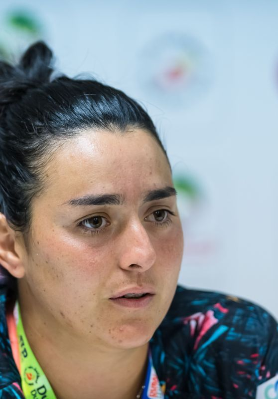 Ons Jabeur -  Talks to the Press - Dubai Duty Free Tennis WTA Championships 2019 in Dubai 02/18/2019