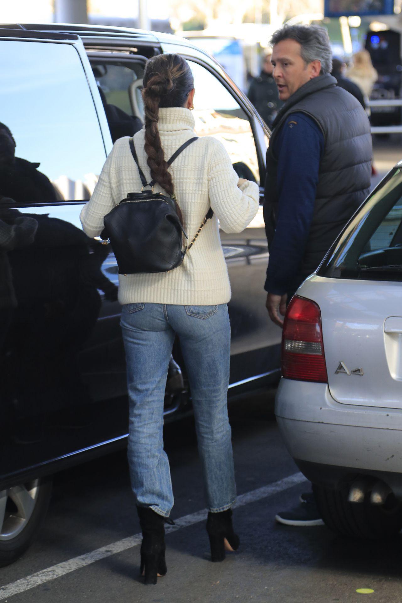 Penelope Cruz in Travel Outfit - Airport in Madrid 02/03/2019