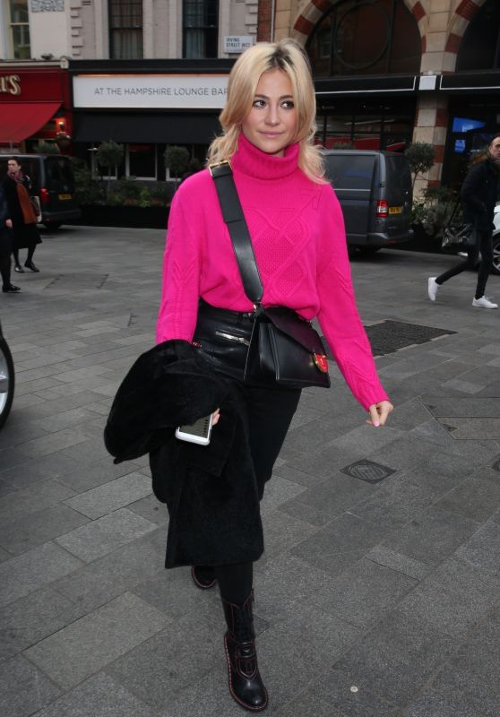 Pixie Lott - Arrives to Global Radio Studios in London 02/13/2019