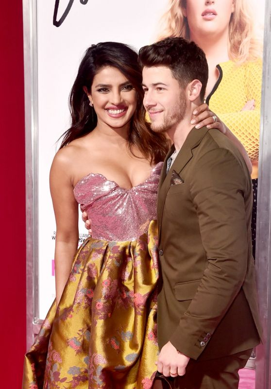"""Priyanka Chopra and Nick Jonas – """"Isn't It Romantic"""" Premiere at The Theatre at Ace Hotel in Los Angeles 02/11/2019"""