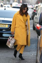 Priyanka Chopra in a Bright Yellow Pant-Suit 02/15/2019