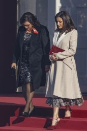 Queen Letizia of Spain and King Felipe - Official Reception to President of Peru and Wife in Madrid 02/27/2019