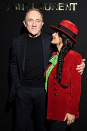 Salma Hayek – Saint Laurent Fashion Show in Paris 02/26/2019
