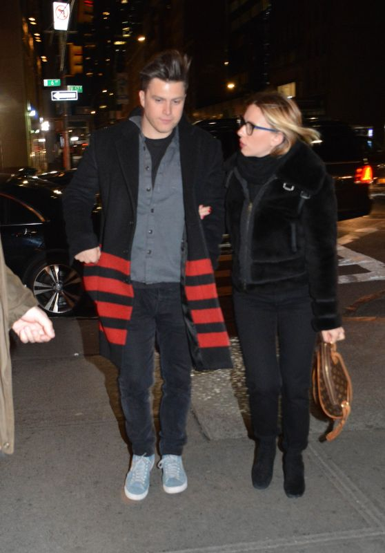 Scarlett Johansson and Colin Jost - Night Out in NYC 02/17/2019