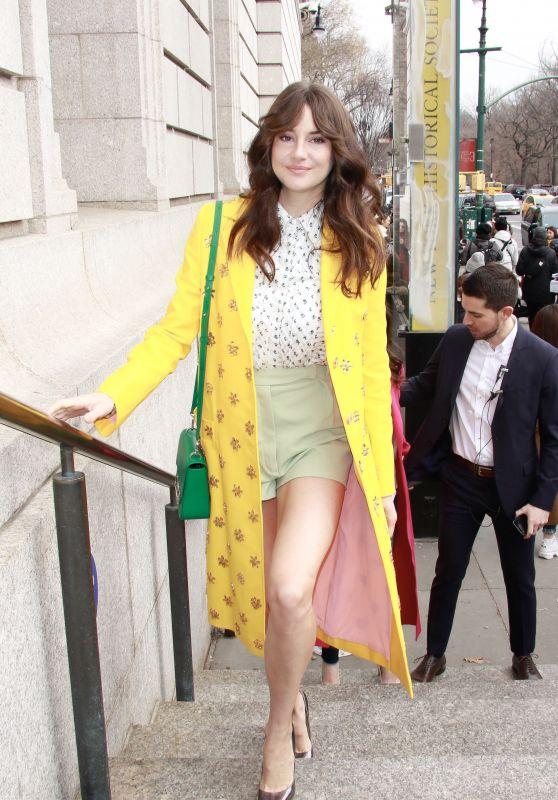 Shailene Woodley – Caroline Herrera Fashion Show in NYC 02/11/2019