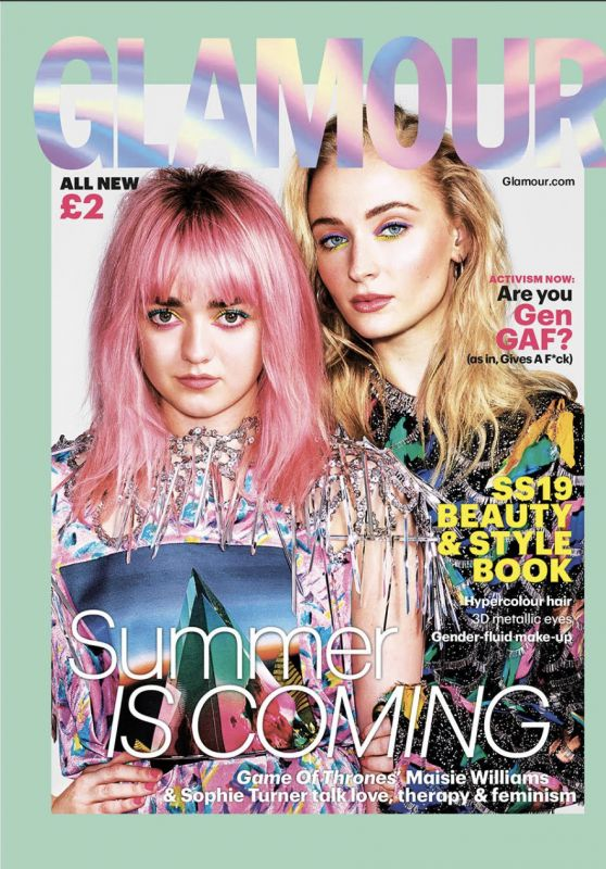 Sophie Turner and Maisie Williams - Glamour UK March 2019