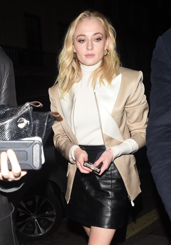Sophie Turner is Stylish - Leaving the Corinthia Hotel in London 02/19/2019