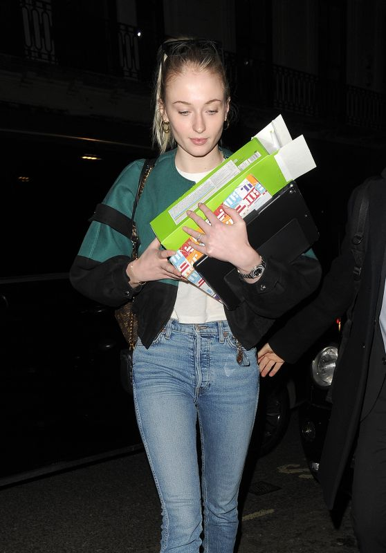 Sophie Turner - Out in Mayfair 02/13/2019