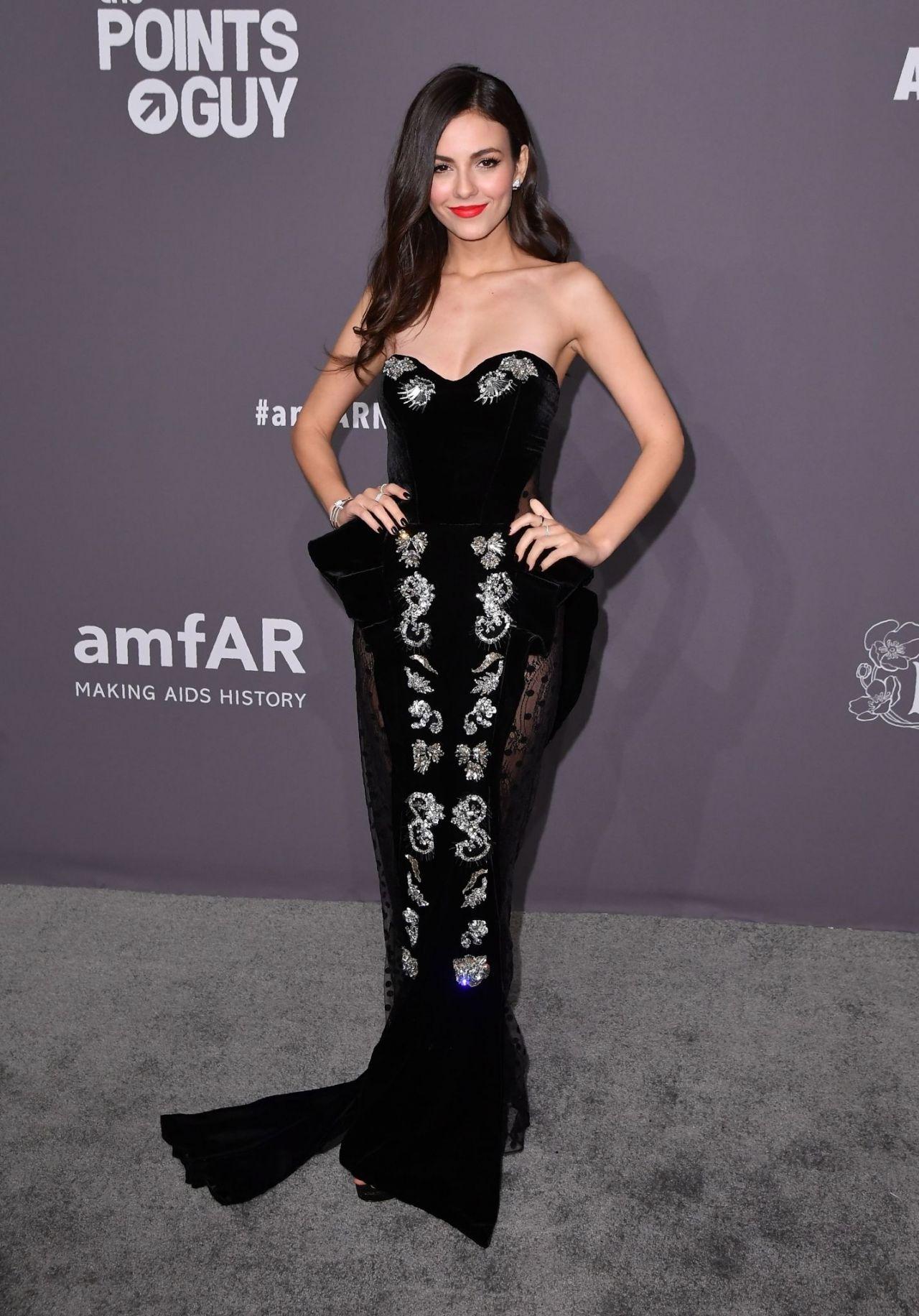 Victoria justice at 2019 amfar new york gala in new york city