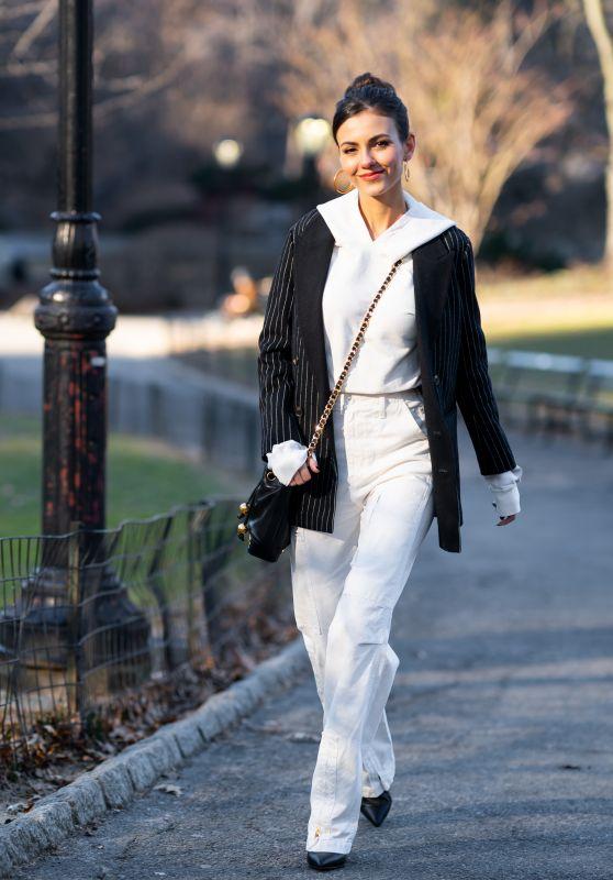 Victoria Justice Street Fashion 02/12/2019