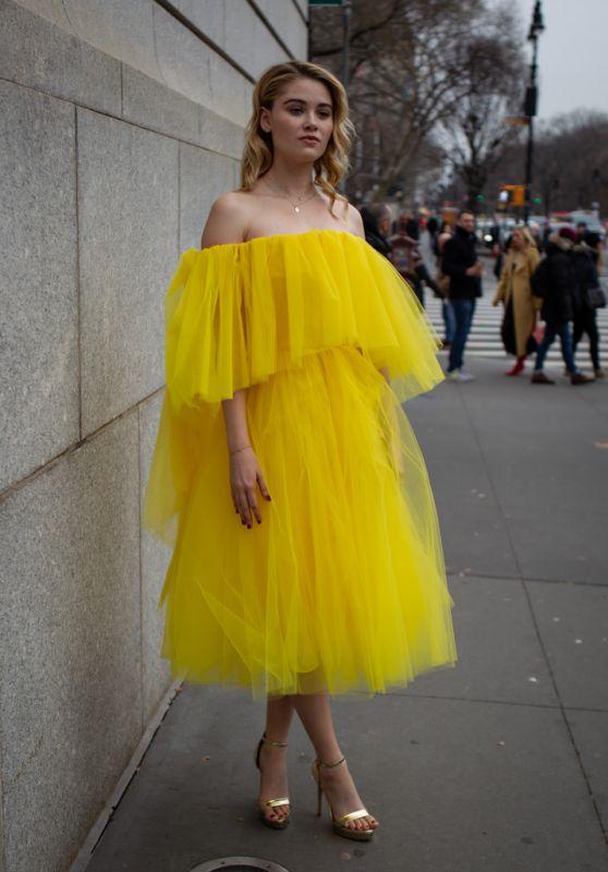 Virginia Gardner - New York Fashion Week 02/11/2019