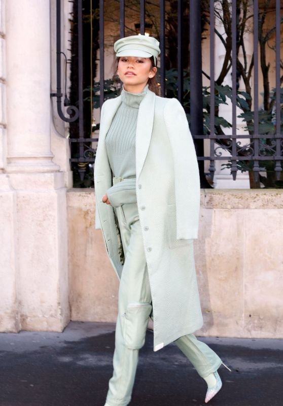 Zendaya Coleman Style and Fashion - Leaving Her Hotel in Paris 02/27/2019