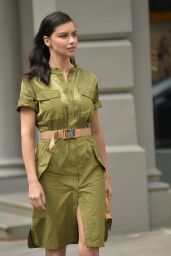 Adriana Lima – Shooting a Maybelline Commercial in NYC 03/22/2019