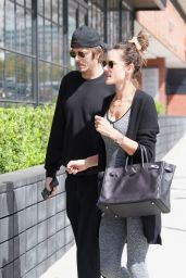 Alessandra Ambrosio in Gym Ready Outfit 03/09/2019