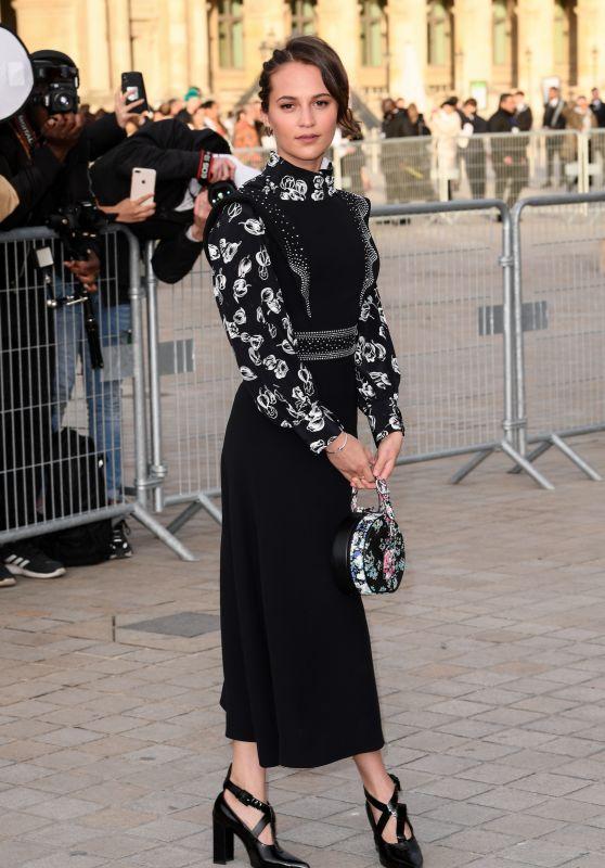 Alicia Vikander – Louis Vuitton Fashion Show in Paris 03/05/2019