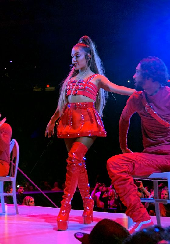 Ariana Grande Performs at Sweetener World Tour in Albany  03/18/2019