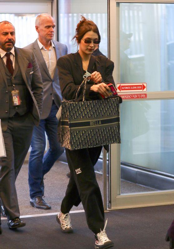 Bella Hadid at JFK Airport 03/20/2019