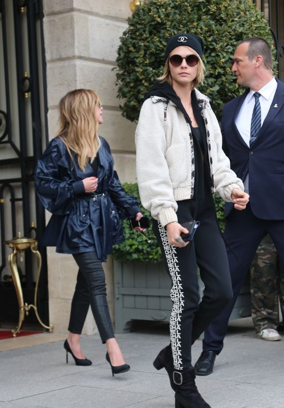Cara Delevingne and Ashley Benson - Leaving the Ritz Hotel in Paris 03/05/2019