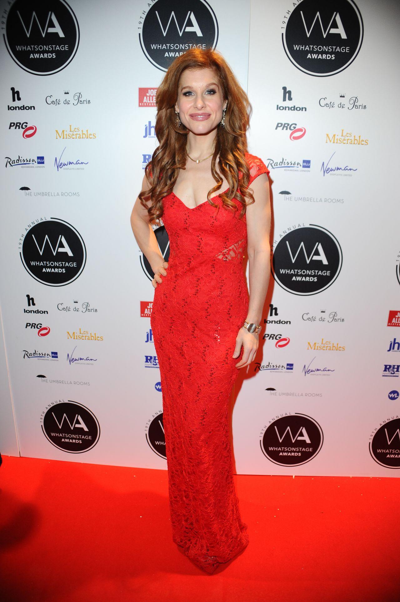 Hannah Waddingham al Whatsonstage Awards 2019 al Prince of