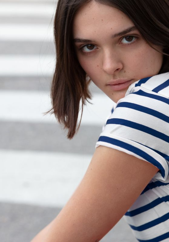 Charlotte Lawrence - Hanes x Karla Stripes Collection 2019