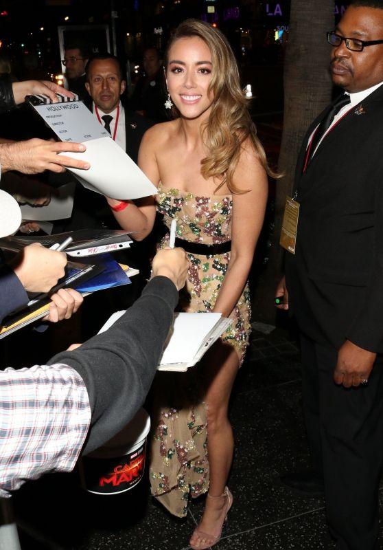 "Chloe Bennet - Meets the Fans Outside ""Captain Marvel"" Premiere in LA"