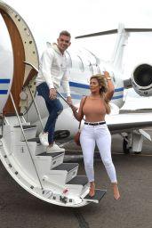 Chloe Ferry and Boyfriend Sam Gowland - Arrived Back in Newcastle 03/19/2019