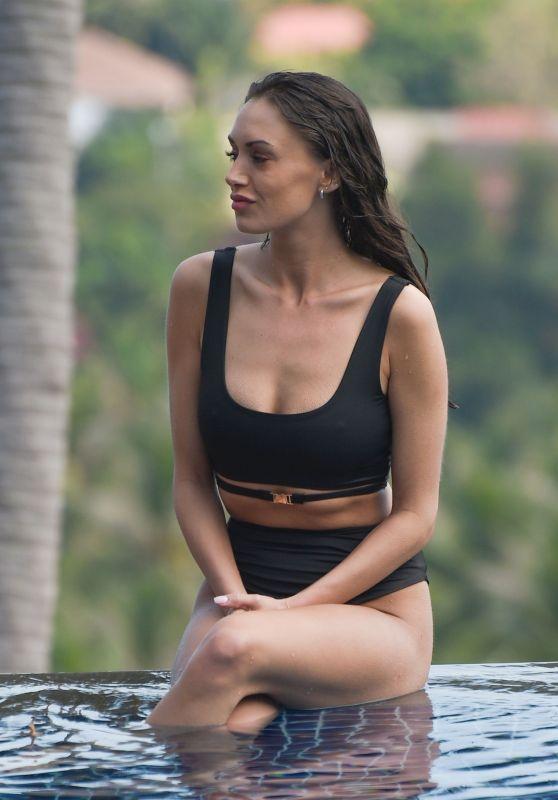 Clelia Theodorou in Bikini Relaxing Round the Pool in Thailand 03/08/2019