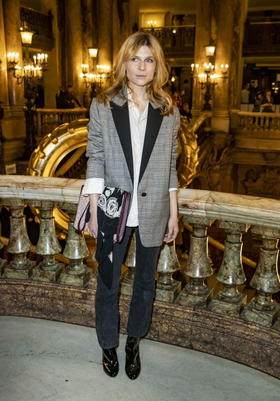 Clemence Poesy – Stella McCartney Fashion Show in Paris 03/04/2019