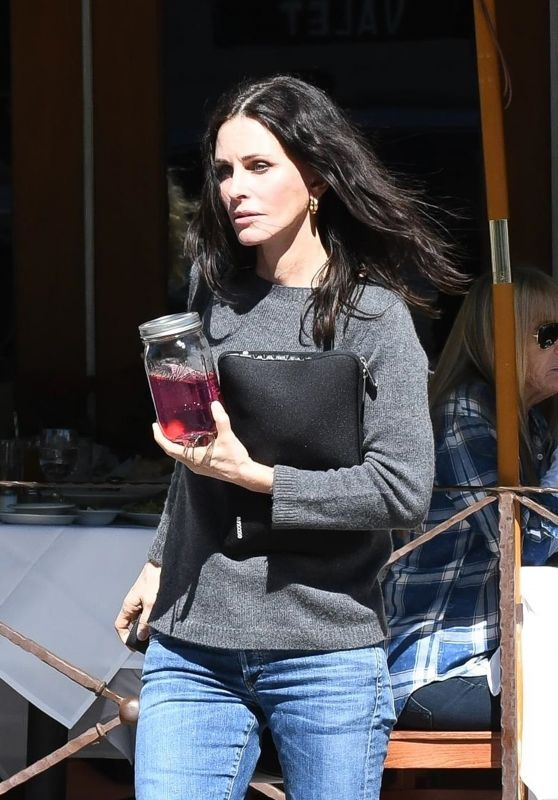 Courteney Cox in Casual Outfit 03/13/2019