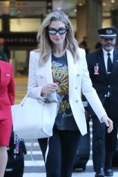 Delta Goodrem at LAX Airport in LA 03/11/2019