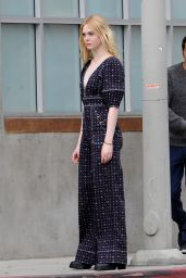 """Elle Fanning - Filming a Music Video For Her New Movie """"Teen Spirit"""" in LA"""