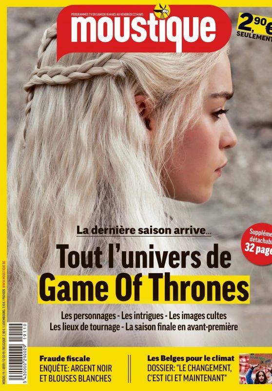 Emilia Clarke - Moustique Magazine March 2019