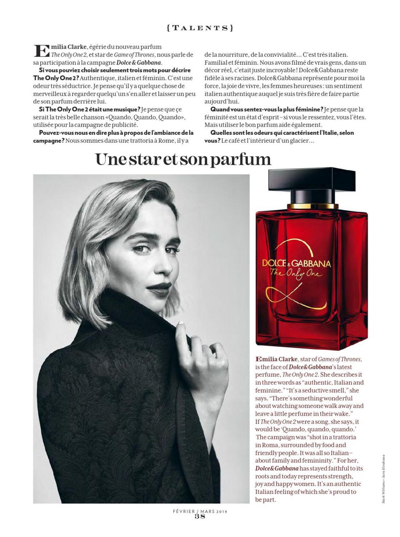 Emilia clarke parfum