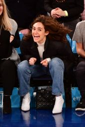 Emmy Rossum - LA Lakers VS New York Knicks in NYC 03/17/2019
