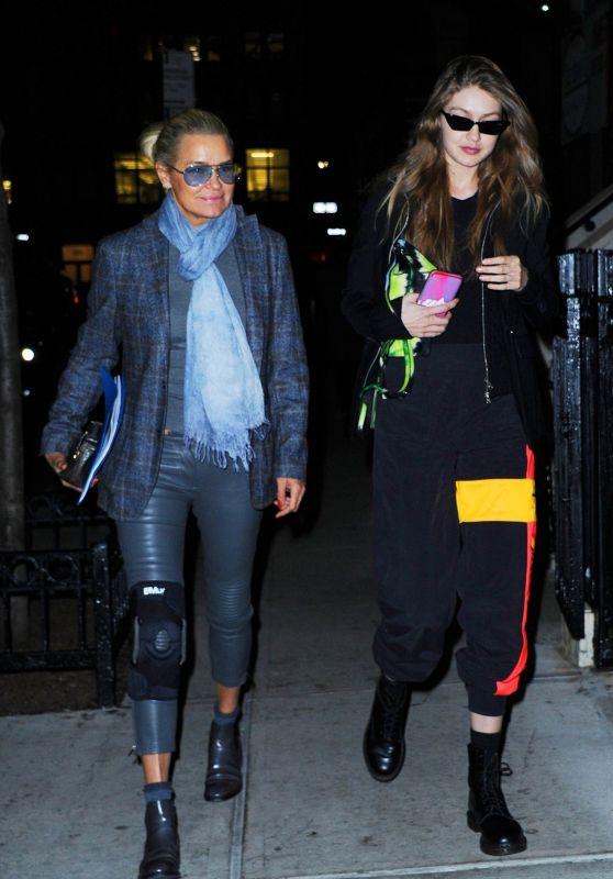Gigi Hadid and Yolanda Hadid - BondST in NYC 03/29/2019