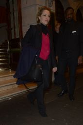 Gillian Anderson - Leaving a Theatre in London 03/13/2019