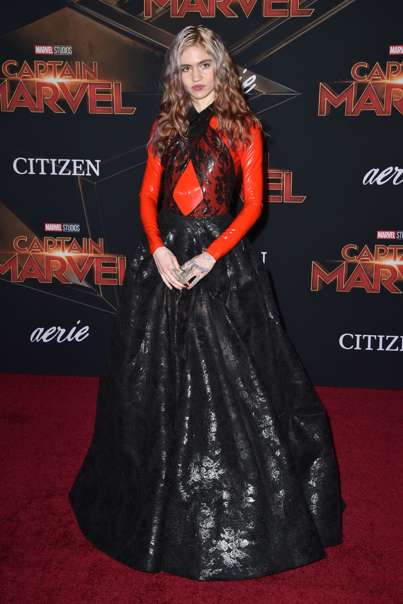 Grimes Captain Marvel Premiere In Hollywood