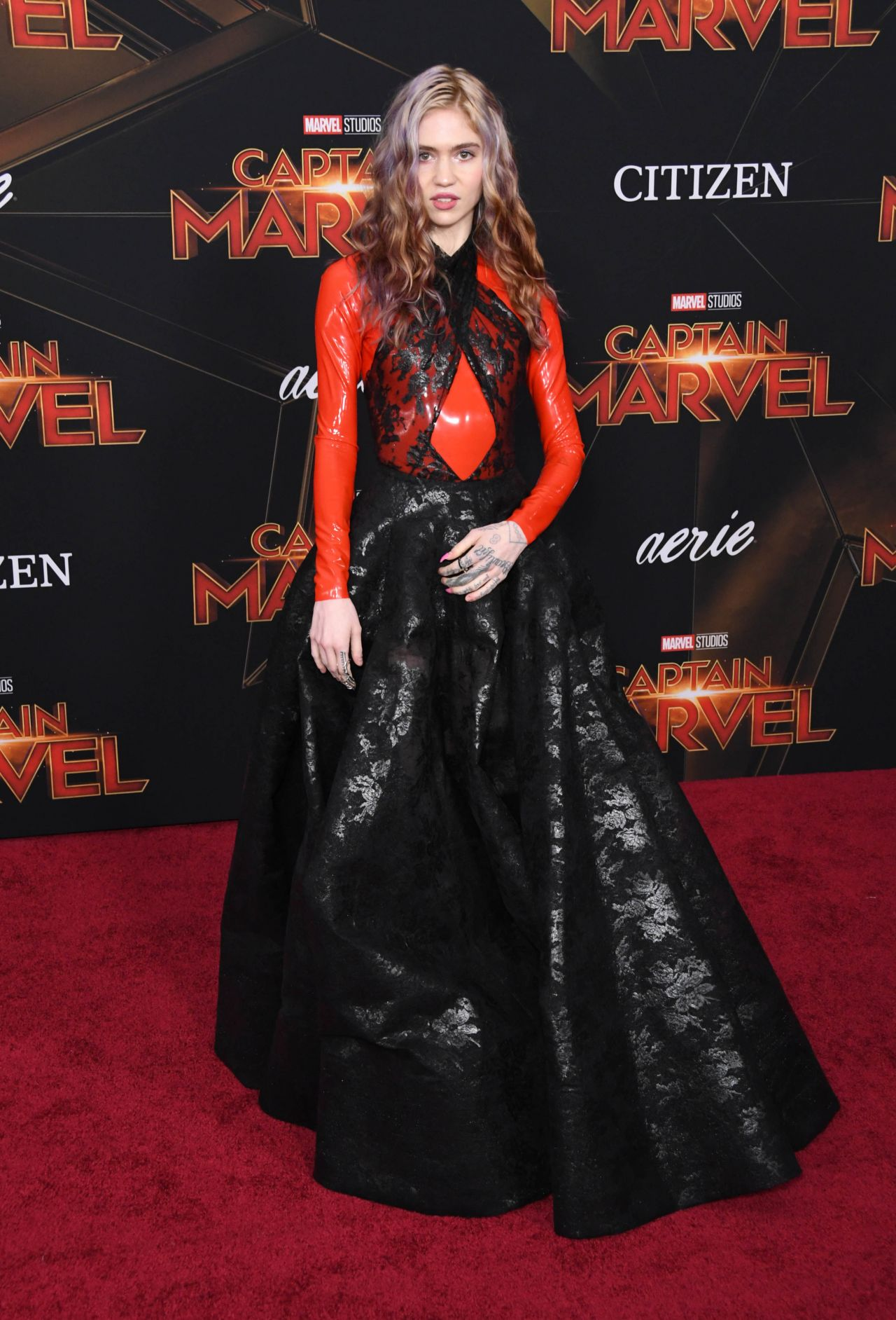 """Grimes – """"Captain Marvel"""" Premiere in Hollywood"""