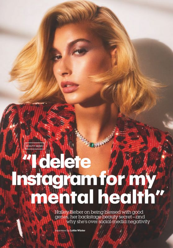 Hailey Baldwin - Glamour Magazine UK February 2019 Issue